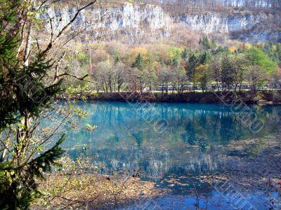 Blue lakes. Caucas