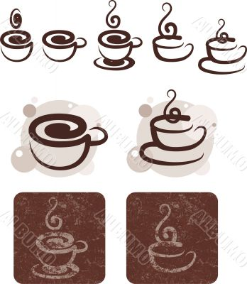 Symbolic image of cups of tea and coffee