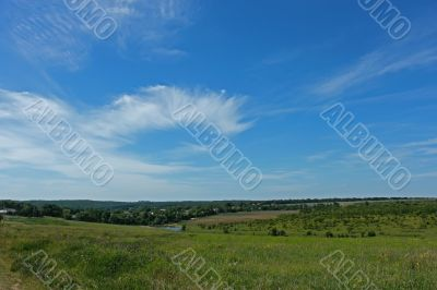 Beautiful skyscape over the countryside