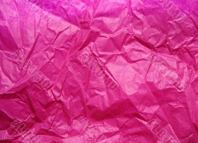 Background of crumpled paper crimson