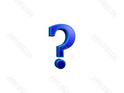 signo de pregunta 3d