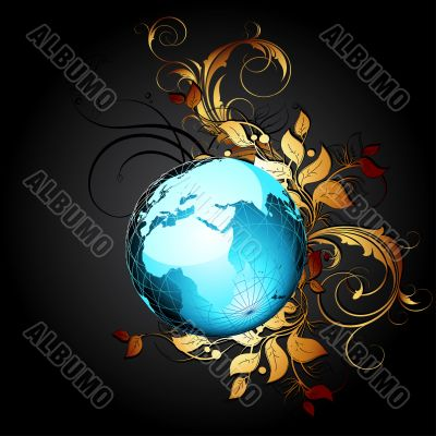 world with floral