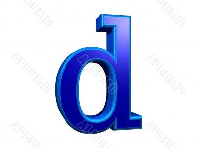 letra d minuscula