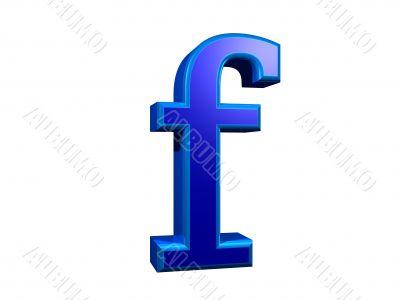letra f minuscula