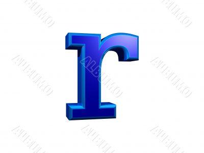 letra r minuscula