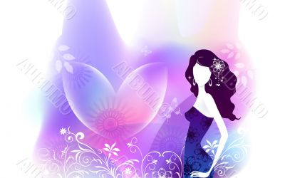 Beautiful Digital Art Girls Silhouettes