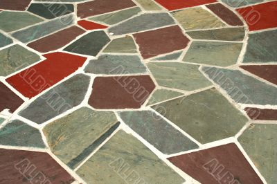 Colored stone walkway background