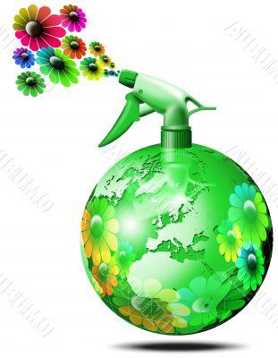 World bio flower spry