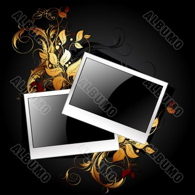 web icon photo frames with floral elements