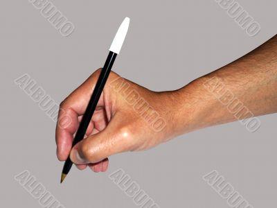 mano y lapicera