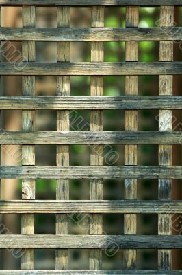 Wooden lattice background