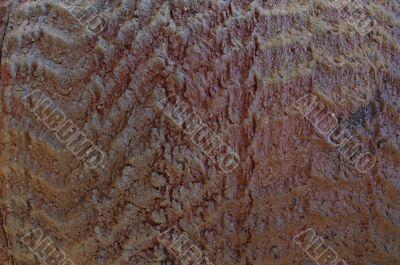 rough texture of terracotta ceramics