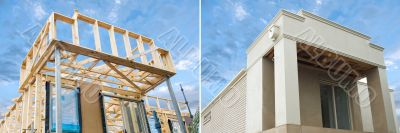 New home construction framing in development