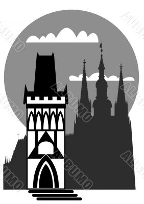 Prague - famous landmark - vector