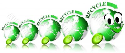 Ecology locomotive recycle