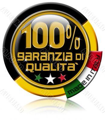 Garanzia di qualità 100 percent made in Italy