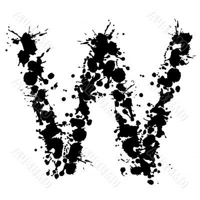 alphabet ink W