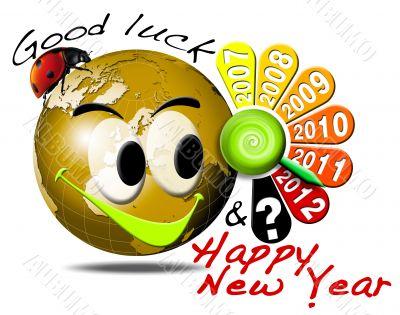 2012 happy new year clock
