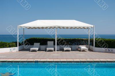 Mediterranean Sea. Tent.