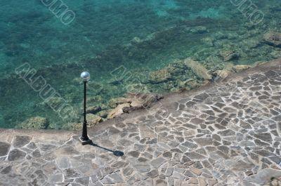 Mediterranean sea. Embankment.