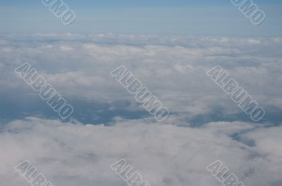 Clouds shot from aircraft.