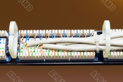 rear view of the patch panel