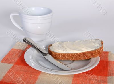 Appetizing sandwich with butter