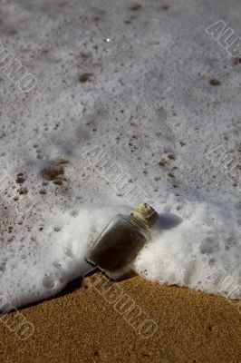 Wave washing bottle away