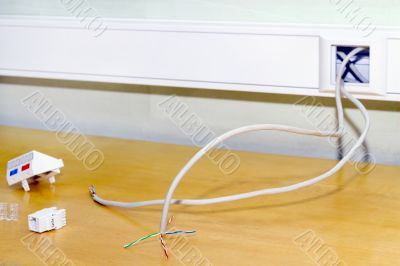 Mounting socket rj 45 internet network