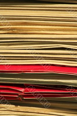 Stacks of newspapers background