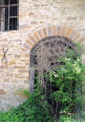 Abanodened Mill`s Doorway