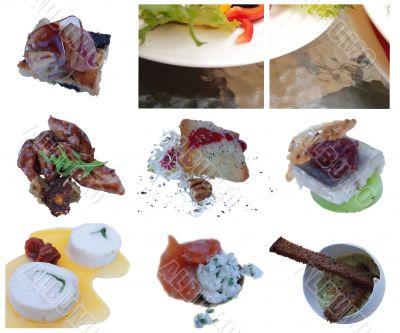 elements of haute cuisine, salat, antipasti
