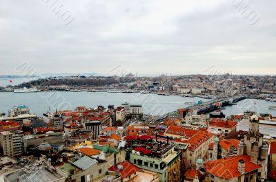 Bosphorus from Galata Tower, Istanbul, Turkey
