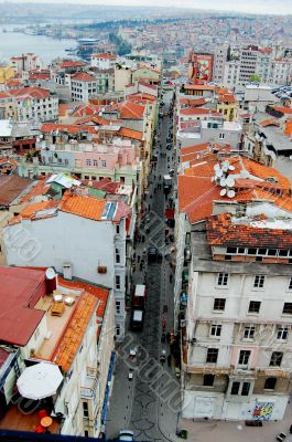 View of Istanbul from the top of Galata Tower