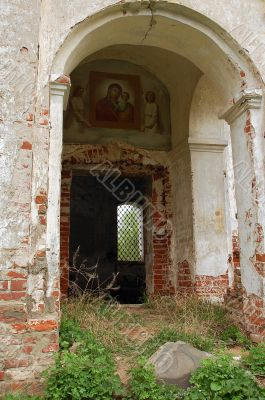 Piece of Abandoned Church in Central Russia