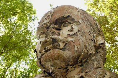 Shabby Lenin`s Bust in Germany