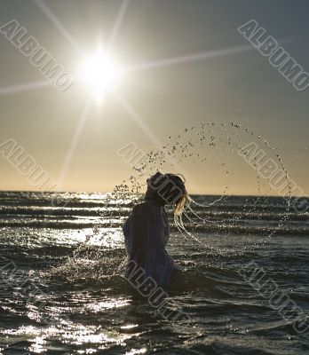 woman and sea