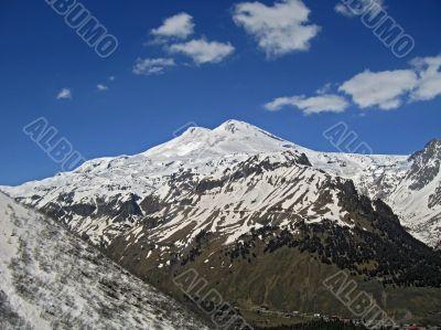 Elbrus. Mountain landscape. North Caucas.