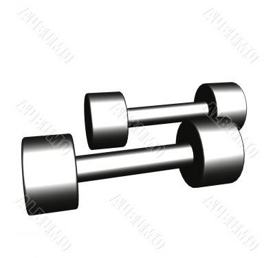 Steel dumbbells for matutinal charging