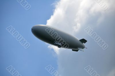 Airship below the Clouds