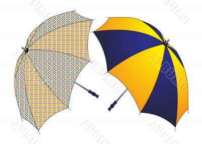 two umbrellas insulated