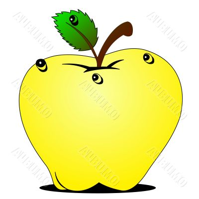 wanted apple with dewdrop