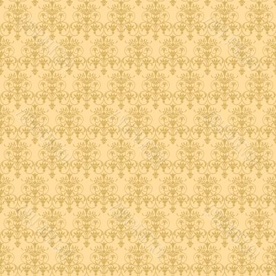 beige vegetable seamless pattern
