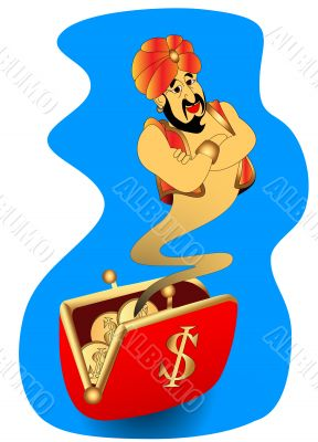 genie appears from wallet