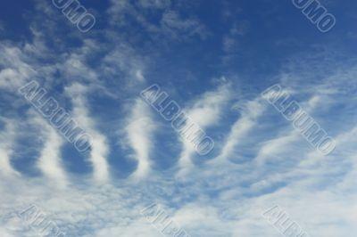 Stratospheric cumulus clouds
