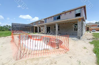House and Pool Construction