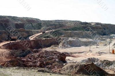 Opencast mining of salt