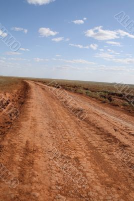 Way in the steppe