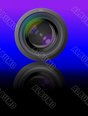 lens photo of the device with reflection