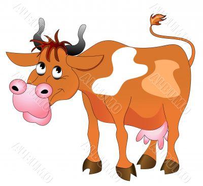 illustration merry cow
